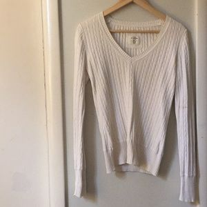 H&M creme sweater size S